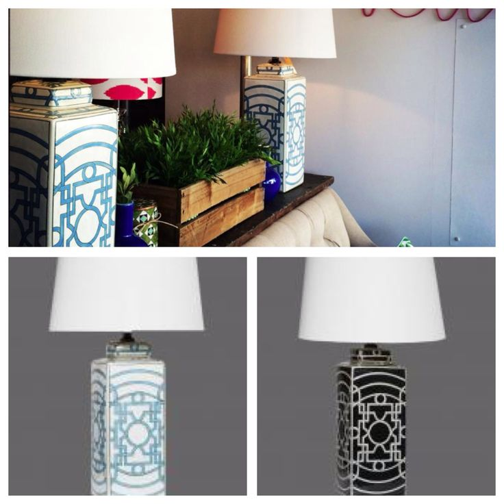 Accent a side table, bedside or console with these eye catching geometric design table lamps. $169 including shade www.homeaboutstyle.com.au