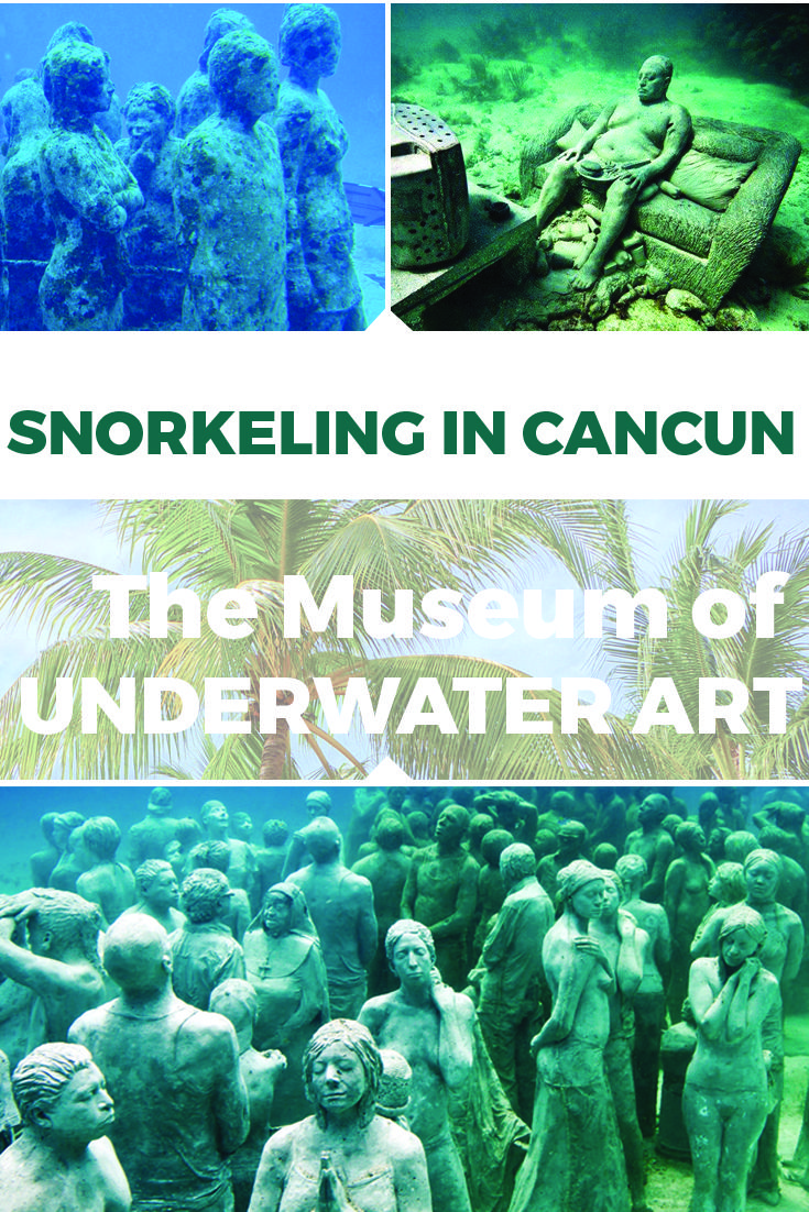 The Museum of Underwater Art – El Museo subaquàtico de Arte was inaugurated on 27th of November 2010 in the Caribbean Sea Cancun. It brings together the largest assembly of underwater sculptures presenting a main gallery that consists of over 400 life sized sculptures.