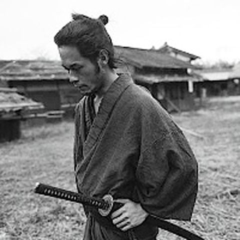 A samurai deep in thought