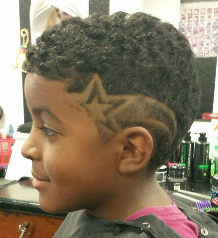hair with star design