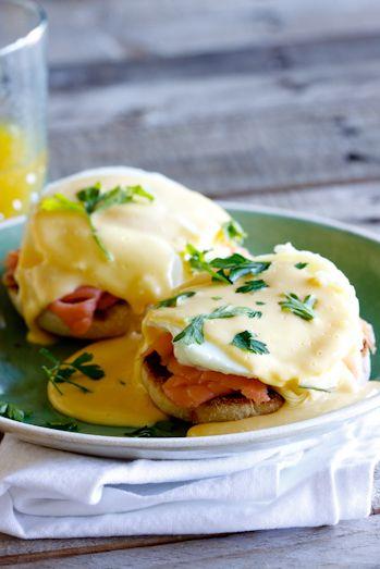 Samuel: eggs benedict with smoked salmon