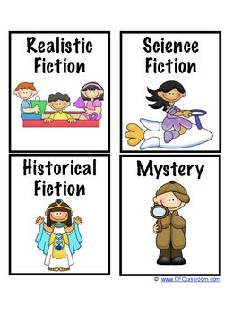 FREE Genre Labels for Your Classroom Library from CFClassroom.com - Clutter-Free Classroom - TeachersPayTeachers.com