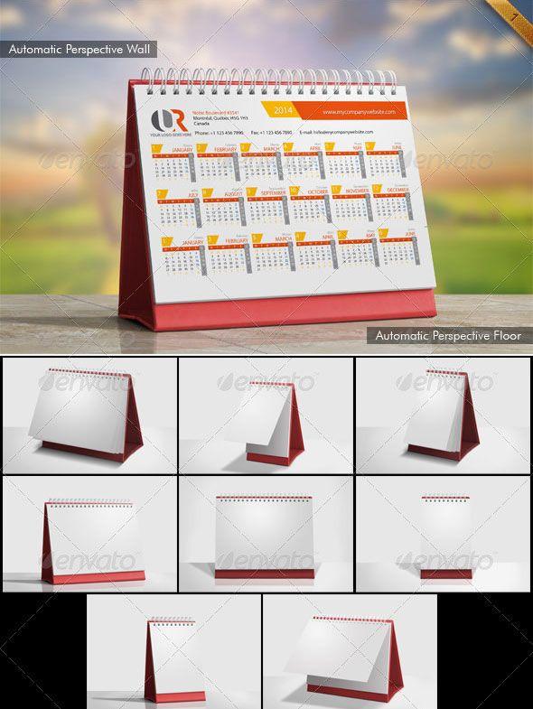Desk Calendar Mockup Set Desk Calendar Mockup Free Calendar Mockup Psd