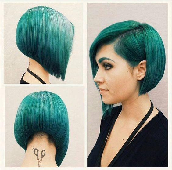 grün! Nie gedacht, dass diese Farbe so super aussieht!  Neue Frisur