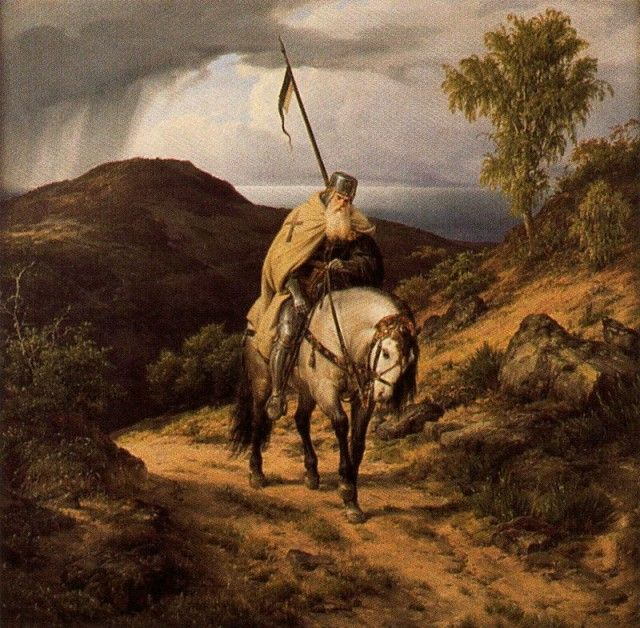 Carl Friedrich Lessing - The Return of the Crusader