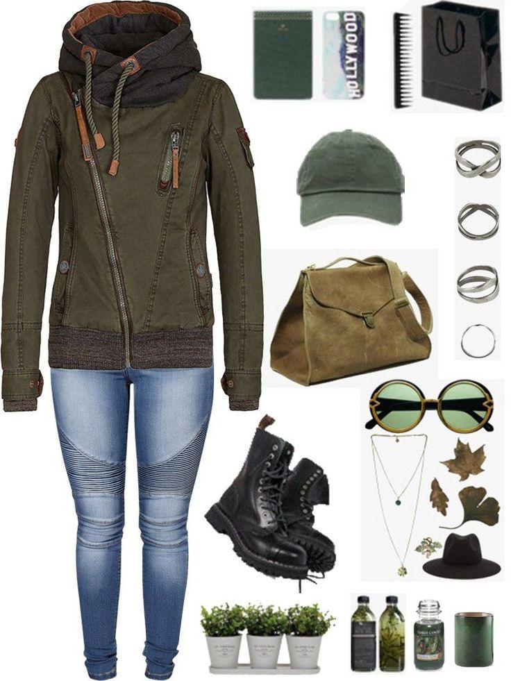 Gracila Women Casual Thicken Patchwork Hooded Zipper Coat