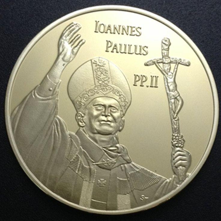 2 gold plated Italy souvenir coin