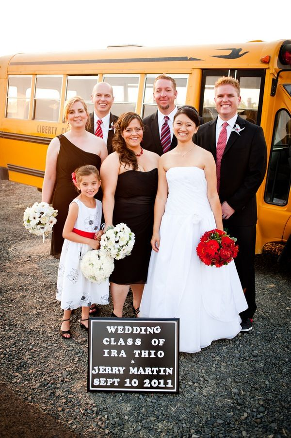 adorable back to school themed wedding - photo by Wilton Photography