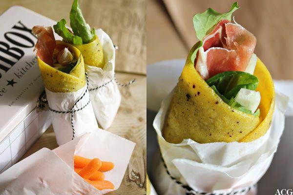 Omelettwrap med spekeskinke - Enestående Mat