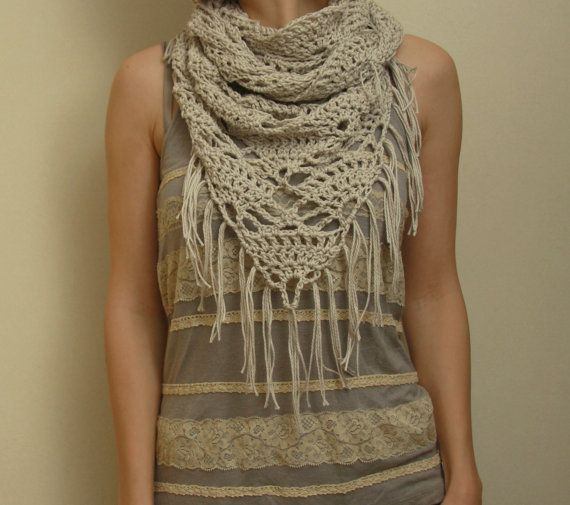 Free Triangle Infinity Scarf Crochet Pattern : 17 Best images about Crochet on Pinterest Collar pattern ...
