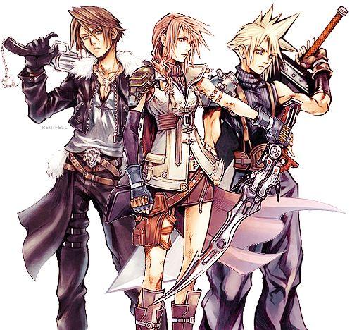 Squall, Lightning, Cloud - Final Fantasy