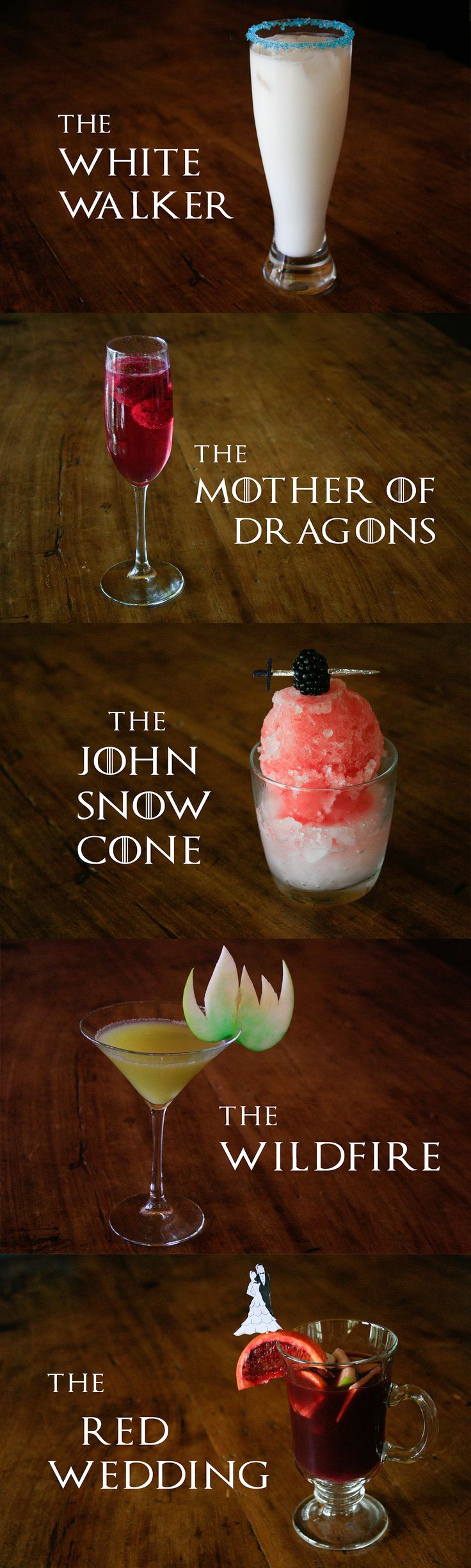 Game of Thrones Themed Cocktails