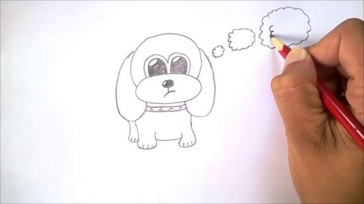 Les 25 meilleures id es de la cat gorie dessin chien sur - Dessin chien facile ...