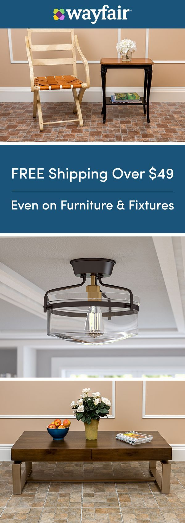 Sign up for access to exclusive sales, all at up to 70% OFF!  Turn your basement into you bonus room with our impressive selection of furniture, storage, and more. Transform this dull space into anything you want it to be, for way way less. And as always, enjoy FREE shipping on all orders over $49 at Wayfair!