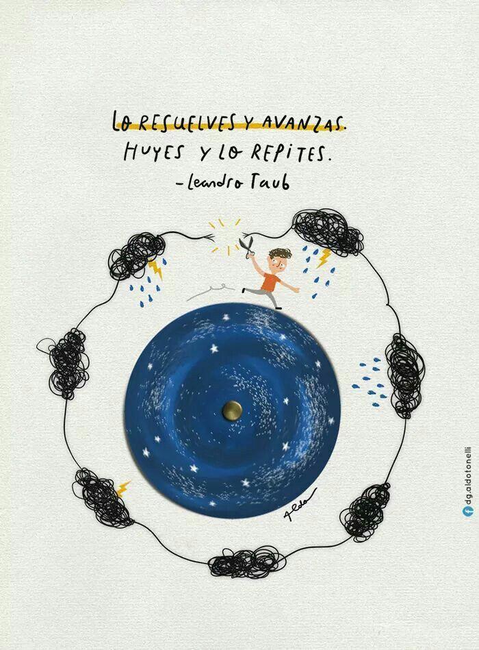 Clara esta suerte de instrucción condicional de Leandro Taub, ilustrada por Aldo Tonelli. Resolver es avanzar, escaparse es no vivir la experiencia y volver a tropezar la próxima vez. Son opciones...