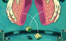 Addictive drugs and gambling rewire neural circuits in similar ways