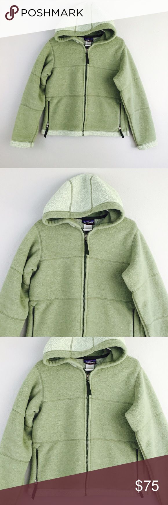 Patagonia Synchilla Light Green Zip Up Hoodie! Size medium! Patagonia Sweaters