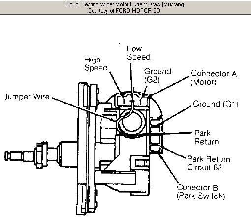 Wiper Motor Wiring Diagram Ford