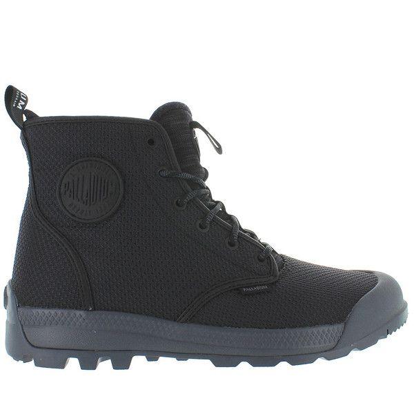 Palladium Pampa Tech High TX - Black/Castlerock Nylon High Top Boot 75189-087