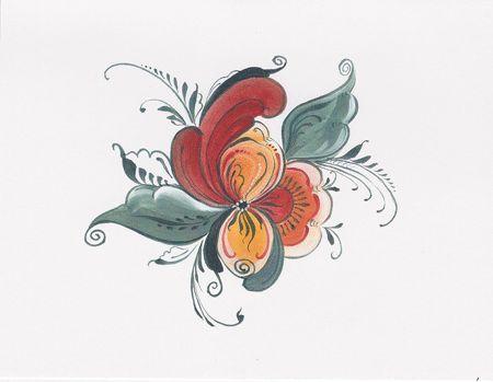 Norwegian Rosemaling Tattoo | 085e83a8ba5e4057bda470bd9ae1f84a.jpg