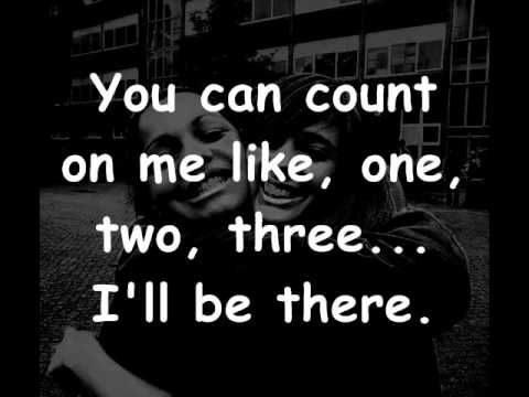 Bruno Mars - Count on me lyrics This is so sweet!! This would be me and my friends!!!! My besties I should say!!