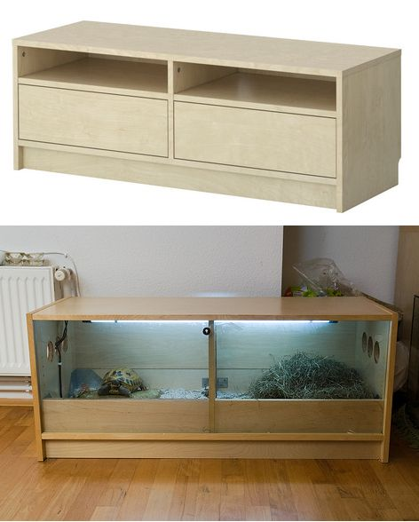 Using a dresser for turtle habitat. I would so do this!