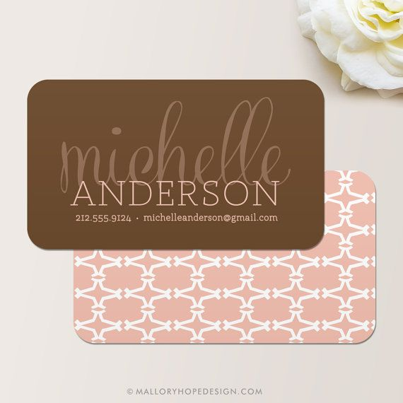 Luxe business card calling card mommy card contact for Sample event planner business cards
