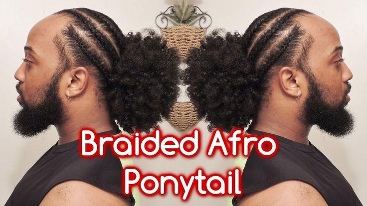 #636 - Braided Afro Ponytail Style Demo - YouTube