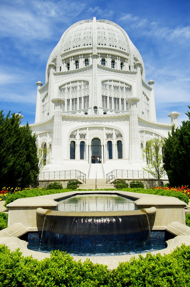 The Bahai Temple in Chicago, Illinois - This structure is absolutely beautiful, both inside and out. Actually, it is worth a trip to the US, Chicago, to see the architecture.