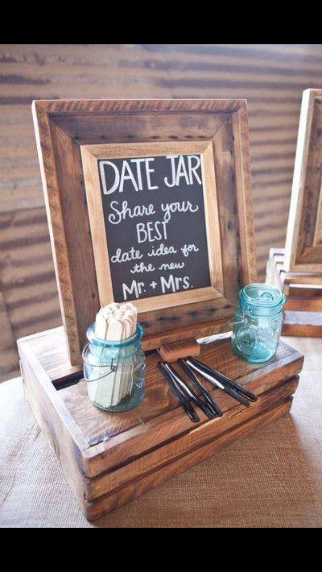 Date jar for bridal shower or wedding guests