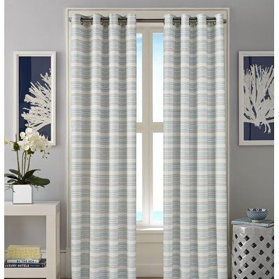 Nautica Westbrook Striped Grommet Curtain Panels