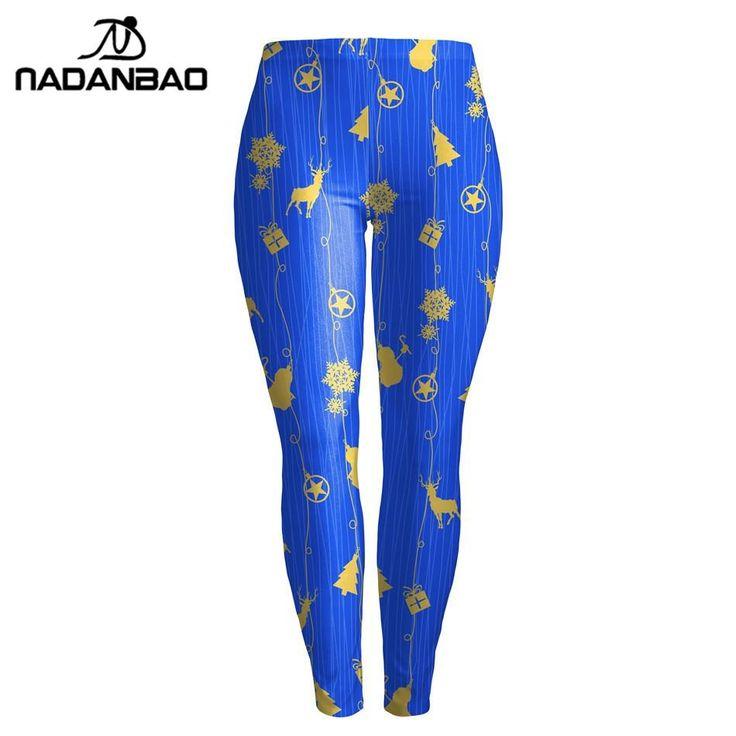 NADANBAO Hot Sale Digital Printed Women Leggings Christmas Legging High Waist Elastic Leggins Silm Legins Woman Pants  #leggings #legging #loveleggs #sexylegs #loveleggings #sport #joga #sexyleggs #leggins #loveleggins