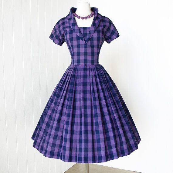 vintage 1950's dress fabulous JONATHAN LOGAN lavender by traven7, $160.00