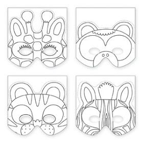 DIY Animal Mask Template