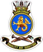 HMAS Hawkesbury (M-83) badge