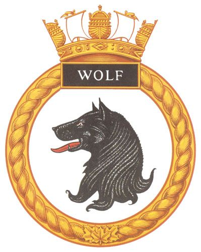 HMCS WOLF Badge - The Canadian Navy - ReadyAyeReady.com