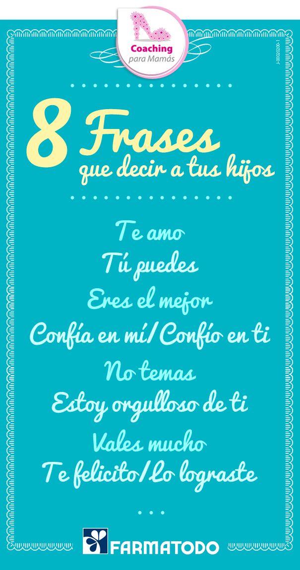 Utiliza estas frases para reforzar la seguridad de tu hijo #ViveSaludable