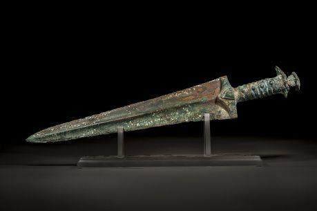 Wide Blade Bronze Persian Sword , ca 1200 B.C.E.-800 B.C.E.