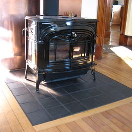 Wood Stove Hearth Design Ideas, Pictures, Remodel, and Decor