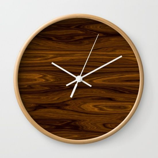 Wood Brown Wall Clock by Fine2art. Worldwide shipping available at Society6.com. Just one of millions of high quality products available.