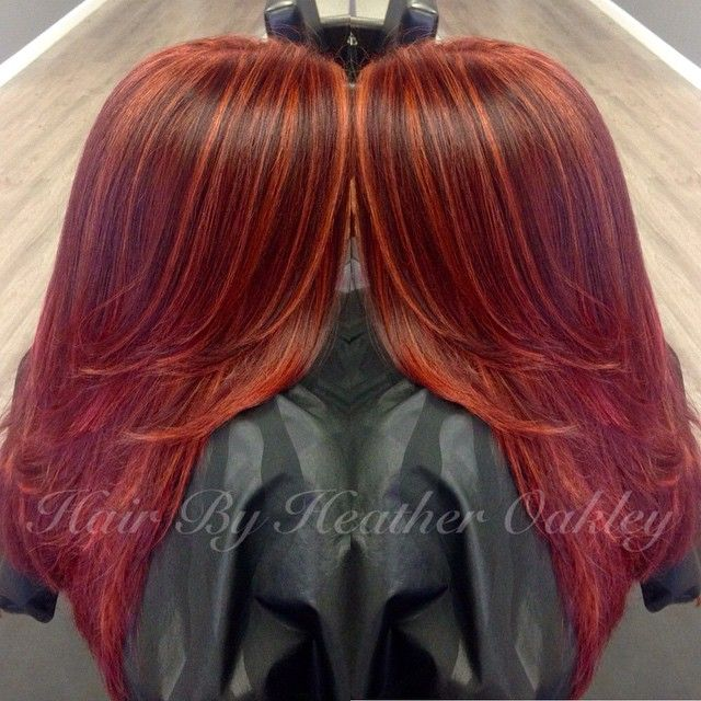Hair- Loving this color!  red with copper highlights. ❤️ formula: red- JOICO  1/2 5xr…