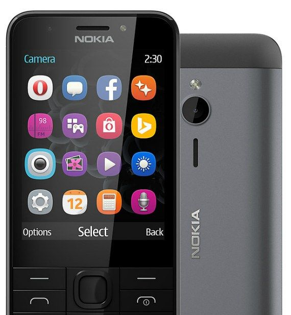 "Nokia 230: Official Display 2.8"" aluminum price $ 55."