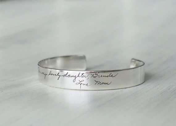 This personalized bracelet is handcrafted from the your own signature, handwriting, drawing or design.