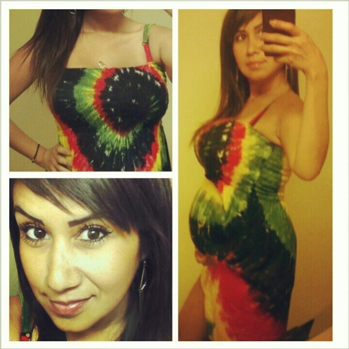 Rasta dress belly bump