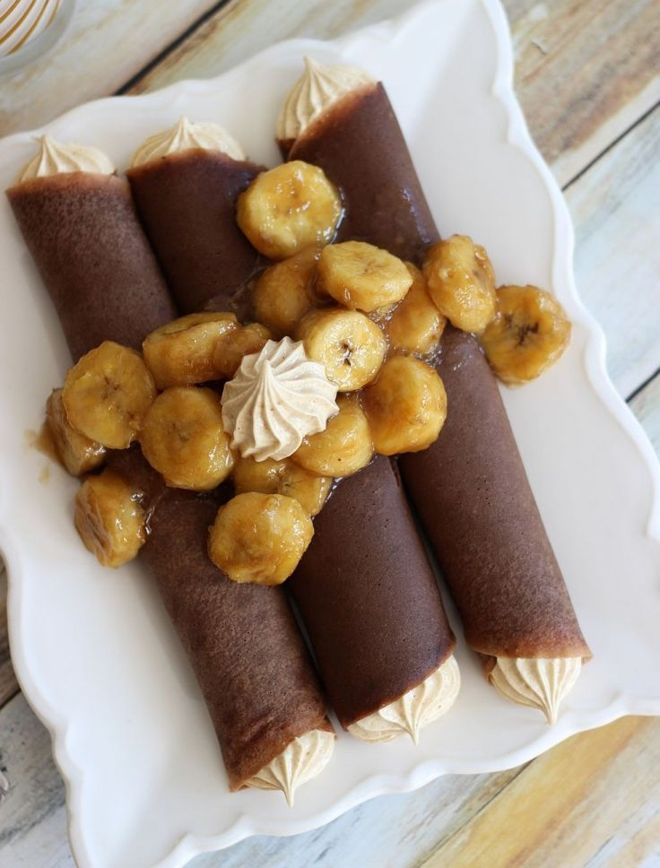 Crepes with Peanut Butter Marshmallow Filling | Girls, Peanut butter ...