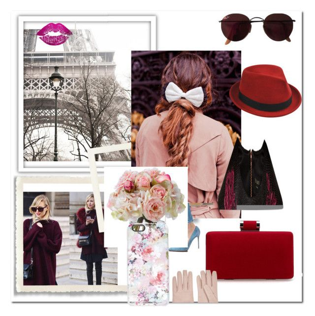 """Romantic II"" by beata-mezes on Polyvore featuring Ray-Ban, Beauxoxo, Ted Baker, Garance Doré, Diane James, Casetify, Oliver Gal Artist Co., Stetson and Valentino"