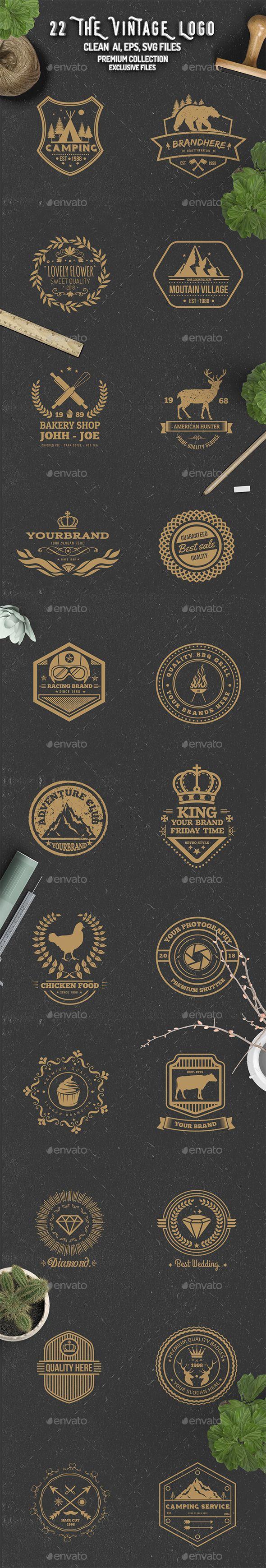 The Vintage Logo Templates Vector EPS, AI Illustrator