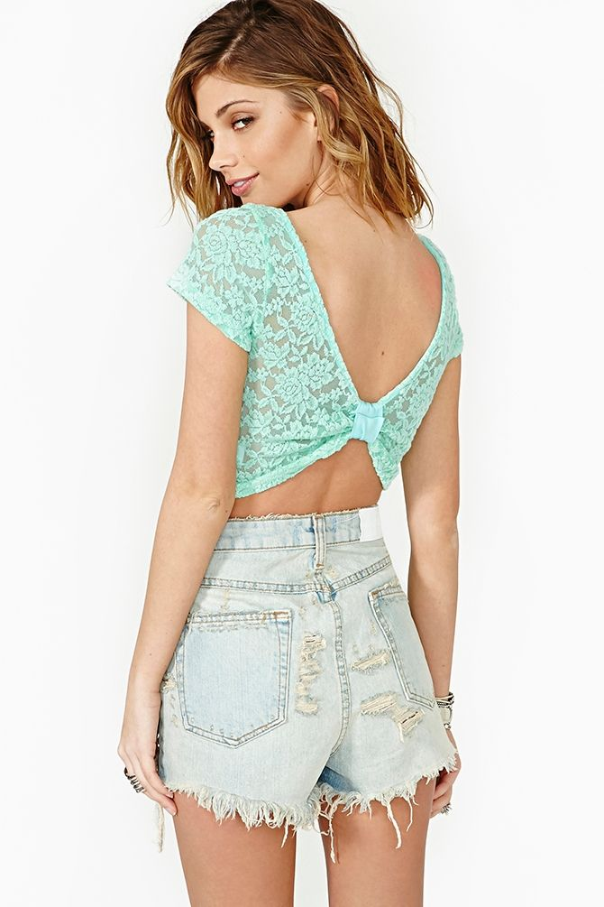 Dulcet Lace Crop Top in Lookbooks February Lookbook: Tripping Daisies at Nasty Gal