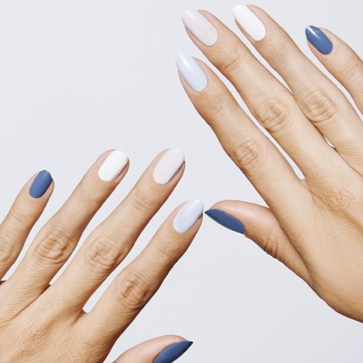 Blue Jeans Kit In 2020 Coffin Nails Designs Nail Polish Colors Nail Designs