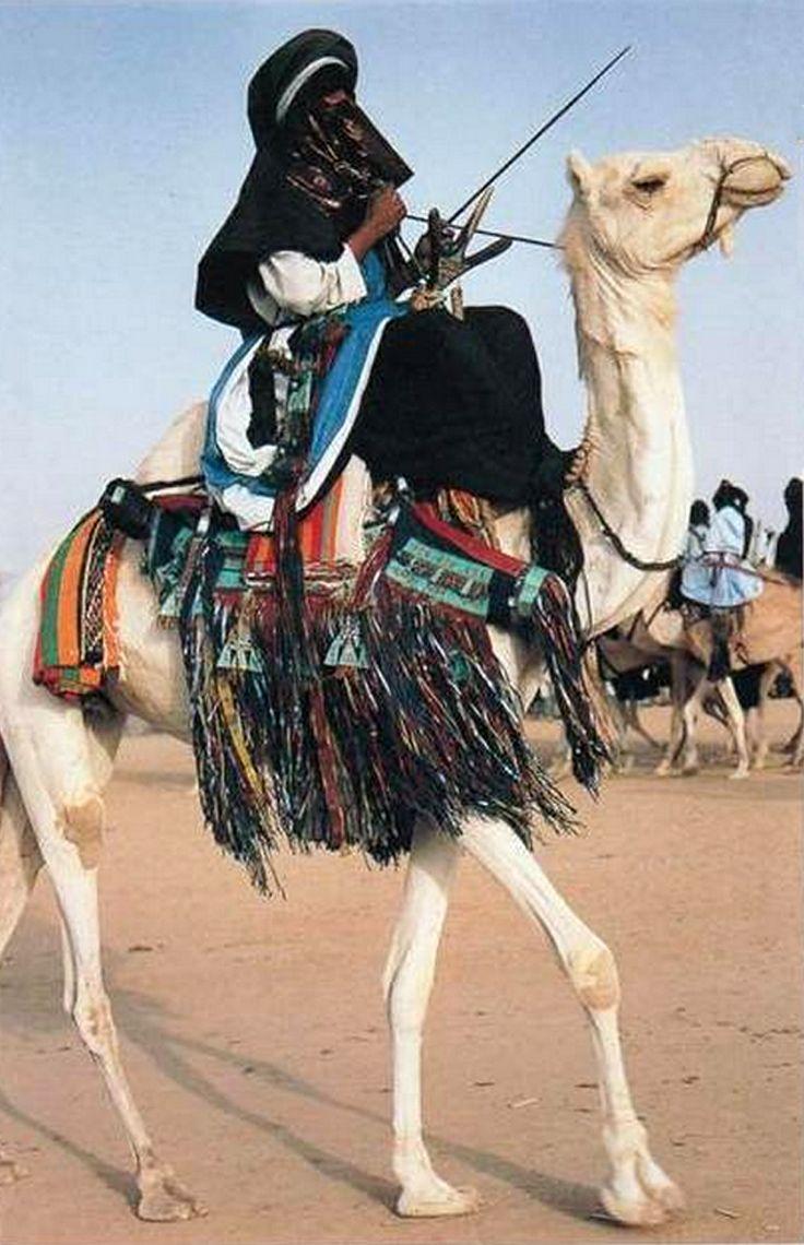 Africa | Tuareg nomad on his camel.  Niger || Scanned postcard